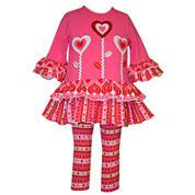Bonnie Jean Girls 2-pc. Legging Set-Toddler
