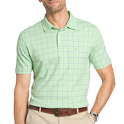 IZOD Short Sleeve Grid Polo Shirt