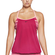 Nike® Stripe Tankini or Solid Brief Swimsuit Bottoms