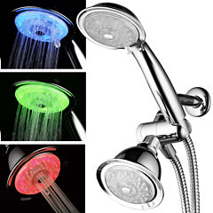 HotelSpa® 7-Color 24-Setting LED Combo Showerhead