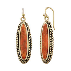 Art Smith by BARSE Orange Sponge Coral Drop Earrings