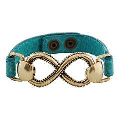 Art Smith by BARSE Infinity Aqua Leather Bracelet