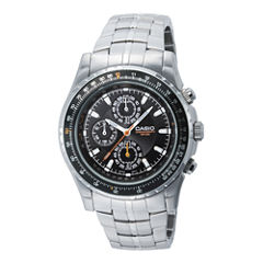 Casio® Mens Stainless Steel Aviator-Style Chronograph Watch MTP4500D-1AV