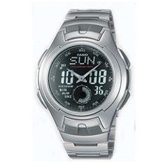 Casio® Mens Stainless Steel Analog/Digital Watch AQ160WD-1BV