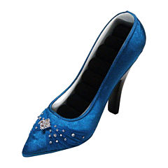 Blue Shoe Ring Holder
