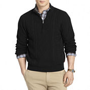 IZOD® Aran Cable-Knit Quarter-Zip Sweater
