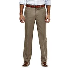 Haggar® Straight-Fit Flat-Front Gabardine Dress Pants