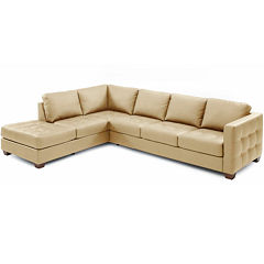 Bryce 2-pc. Metro Leather Left-Facing Corner Chaise Sectional