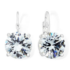 Monet® Silver-Tone Crystal Drop Earrings