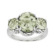 Shey Couture Genuine Quartz Sterling Silver Green Ring