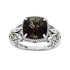Shey Couture Smoky Quartz Sterling Silver Antiqued Ring