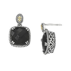 Shey Couture Genuine Onyx Sterling Silver Drop Earrings
