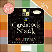 58-Pack Textured Neutrals Cardstock Stack
