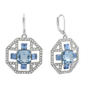 Monet Blue And Silvertone Drama Earring
