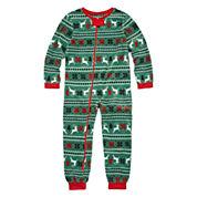 North Pole Trading Co Family Sleep Girls One Piece Pajama-Big Kid