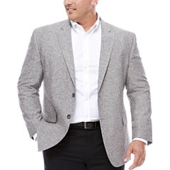 Stafford Linen Cotton Grey Sport Coat- Big and Tall