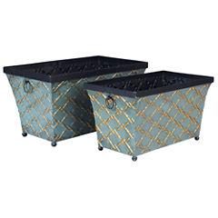Household Essentials® Metal Storage Bin - Set of 2