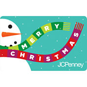 $50 Merry Christmas Snowman Gift Card