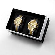 JBW Delano&Alessandra 1/2 Ct. T.W. Diamond Accent Unisex Two Tone 2-pc. Watch Boxed Set-Jb6218cjb6217c