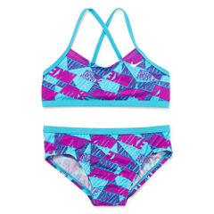 Nike Girls Solid Bikini Set - Big Kid