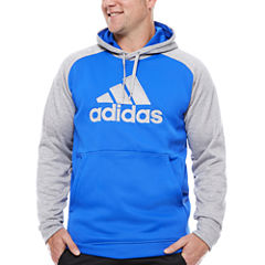 adidas Long Sleeve Knit Hoodie-Big and Tall