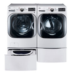LG Front Load 4-pc. Electric Washer & Dryer Set with Pedestal Washer