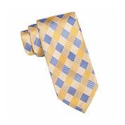 Stafford® Anton Textured Gingham Silk Tie