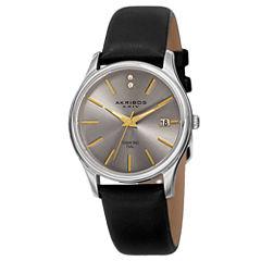 Akribos XXIV Womens Black Strap Watch-A-879ss