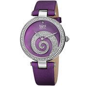 Burgi Womens Purple Strap Watch-B-143pu
