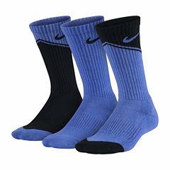 Nike 3-pk Graphic Crew Socks- Boys