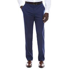 JF Blue Micro Check FF Pant Slim