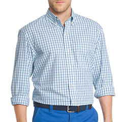 IZOD Long Sleeve Essential Tattersal Button Front Shirt