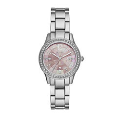 Relic® Womens Silver Pink Mos Zr12176 Bracelet Watch