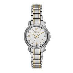 Relic® Womens Two-Tone Zr34347 Bracelet Watch