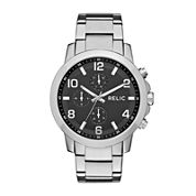 Relic® Womens Silver Black Zr15819 Bracelet Watch