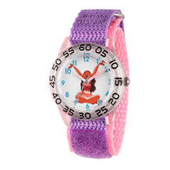 Disney Moana Girls Purple Strap Watch-Wds000041