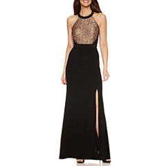 DJ Jaz Sleeveless Embellished Evening Gown