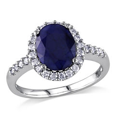 Blue Sapphire 14K Gold Engagement Ring