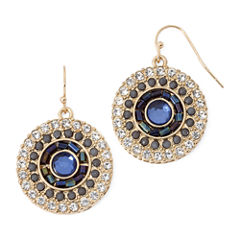 Decree® Blue and Clear Crystal Earrings