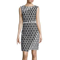 Worthington® Sleeveless Wrap-Skirt Sheath Dress