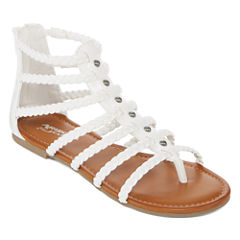 Flat Sandals White All Women S Shoes For Shoes Jcpenney