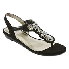 Worthington Odette Womens Flat Sandals