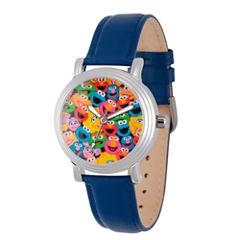 Sesame Street Womens Blue Strap Watch-Wss000002