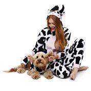 Cow One Piece Pajama and Dog Costume