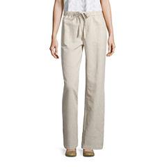 Liz Claiborne Drawstring Linen Pants