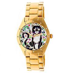 Bertha Womens Gold Tone Strap Watch-Bthbr6102