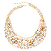 Vieste® Simulated Pearl 5-Row Necklace