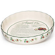Pfaltzgraff® Winterberry Pie Plate with Recipe