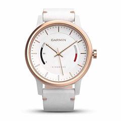 Garmin Vivomove Womens White Leather Band Smartwatch-0100159713