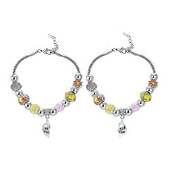 Dazzling Designs™ Best Friend Yellow Heart Charm 2-pc. Bracelet Set